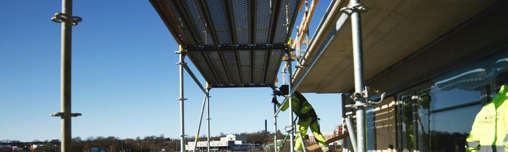 Montering av byggställning