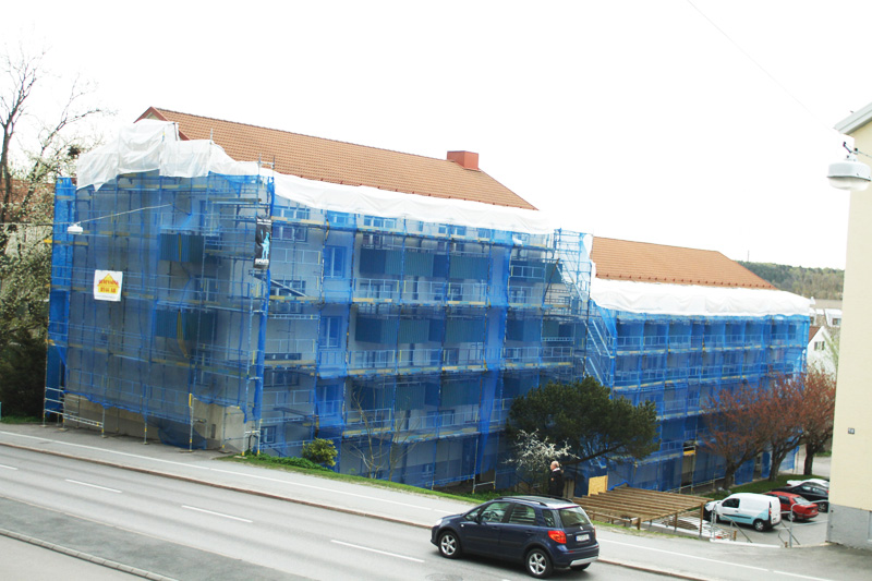 Eklandagatan - Byggnadsställning